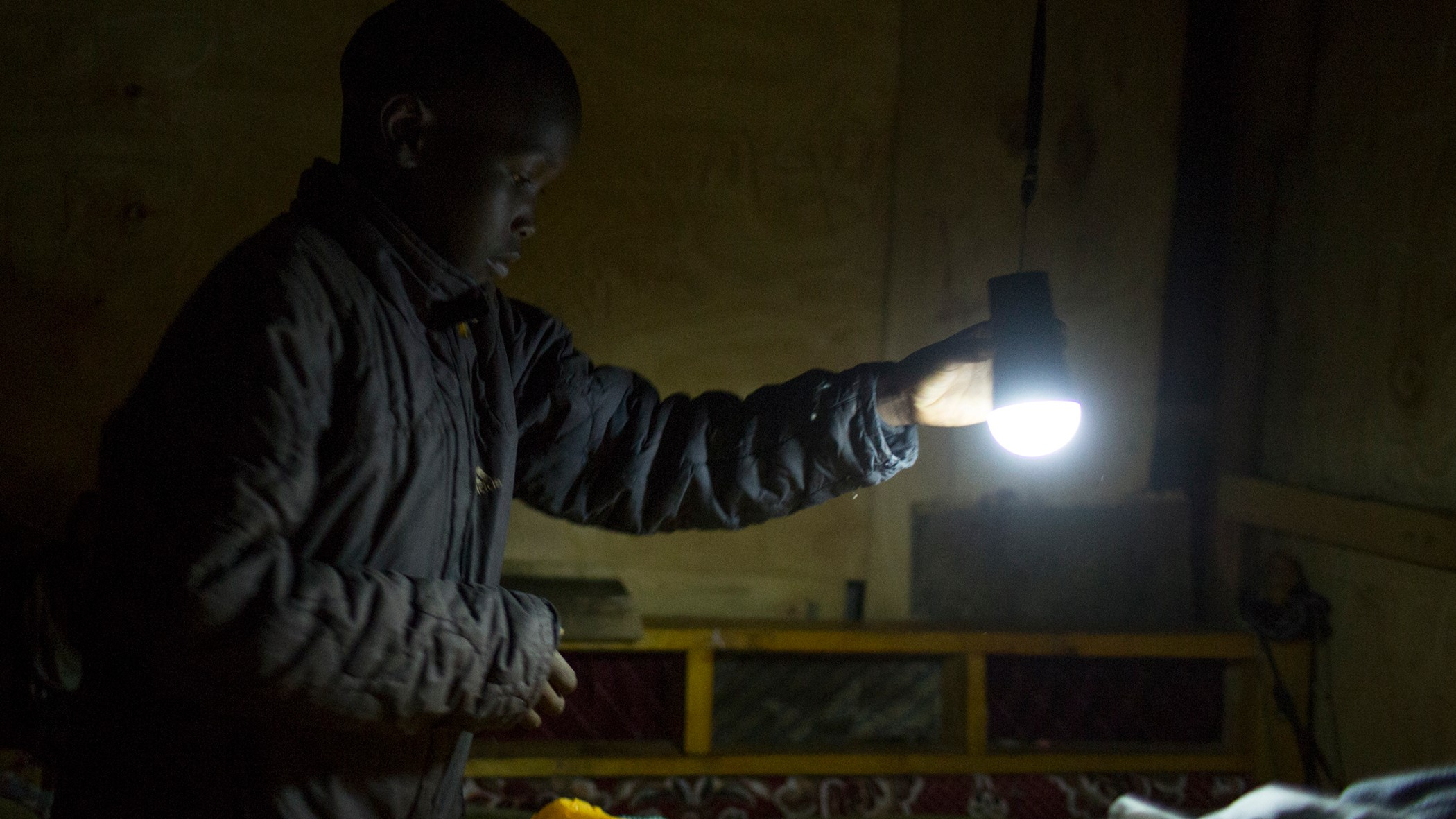 M-KOPA Solar brings light from solar energy to people in Kenya.