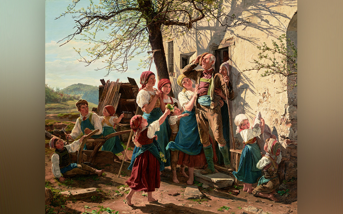 Revival to new life, Ferdinand Georg Waldmüller